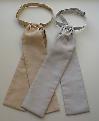 Gold or silver formal dress cravat for men or boys Fits collar 13 to 22